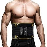 Rückenbandage Rücken Gurt - Rückenbandage Sport Rückenstützgürtel Fitness Rückengurt mit...