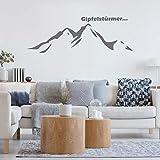 LAVICO|M Wandtattoo [Gipfelstürmer] Wandsticker Deco Sticker Dekor Berge Wandern Alpen weiß