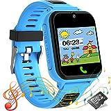 Smartwatch Kinder Telefon Uhr Touchscreen Kids Smart Watch für Kinder mit SOS Anruf Musik Spiel...
