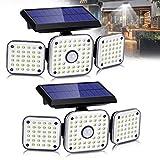 Solarlampen für Außen mit Bewegungsmelder,112LED Solarleuchten Aussen 270°Beleuchtungswinkel...
