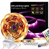 SHINELINE LED-Lichtleiste mit 24 Tasten, RGB SMD 5050, dimmbar, mit Fernbedienung und Netzteil für...