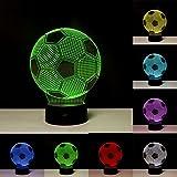 Linkax 3D LED Licht Nachtlicht Optische Tuschung Lampe Schreibtischlampe Tischlampe Nachtlicht 7...