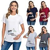 Snakell 2020 Damen Umstandsmode Schwangerschaftsshirt Schwangerschaft Baumwolle T-Shirt Nursing...