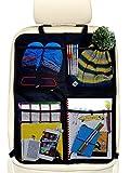 Systemoto Auto Rücksitz Organizer mit 4 Großen Taschen (1 Stück) - Autositz Organizer mit...