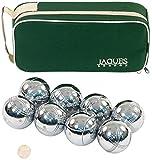 Boules 8 Set - Luxus 8 Boccia Boules Set im Zip Case - Rust-Z behandelt - Jaques von London