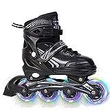 GAOXIAOMEI Verstellbare Inline-Skates Mädchen und Jungen,mit Allen beleuchteten Rädern, ABEC7...