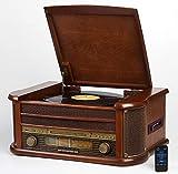 Nostalgie Holz Musikanlage   Kompaktanlage   Retro Stereoanlage   Plattenspieler   Radio   CD MP3...