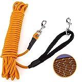 PETTOM Reflektierend Schleppleine für Hunde, 5m/10m/15m Seil Hundeleine Trainingsleine mit...