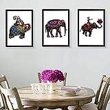 BAIJJ Moderne Persönlichkeit, dreifach, abstrakte Farbe, Dreifach-Bilderrahmen, Farbe zum...