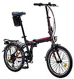 Licorne Bike Premium Falt Bike in 20 Zoll - Fahrrad für Herren, Jungen, Mädchen und Damen -...