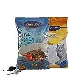 Lyra Pet ® 30 L Cats Power Ultra Excellent Katzenstreu Klumpstreu FEHLABFÜllUNG + 2 Mäuse