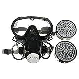Tyueliang-Home Brille Gesichtsmaske Beatmungsgerät Gasmaske Sicherheit Chemische Anti-Staub-Filter...