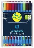 SCHNEIDER Kugelschreiber Slider Edge XB Tasche 10 Stück 8+2