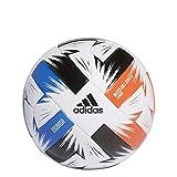 adidas Unisex-Adult Tsubasa League Fußball, White/Solar Red/Glory Blue/Black, 5