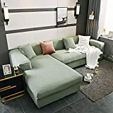 CC.Stars Sofa Abdeckung Sofahusse,Wohnzimmer Ecke Sofabezug, elastische Spandex Sofabezug,...