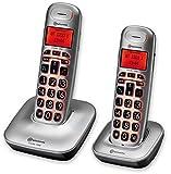 amplicomms BigTel 1202, Schnurloses Großtastentelefon mit zusätzlichem Mobilteil,...