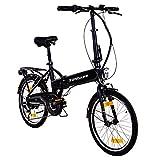 Zndapp Faltrad E-Bike 20 Zoll Z101 Klapprad Pedelec StVZO Elektrofaltrad 6 Gang (schwarz)