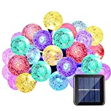 Solar Gartenleuchten, Led Outdoor Dekorative Lichterkette Multi Colored Crystal Ball Fairy Lampen...