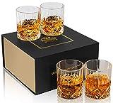 KANARS 4er Set Whisky Gläser, Bleifrei Kristallgläser, Whiskey Glas, 300ml, Schöne Geschenk Box,...