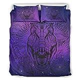 BOBONC Dinosaur Animal 3D Bettbezug Duvet Quilt Und Kissenbezug Super Soft Einzelbett Bettwäsche...