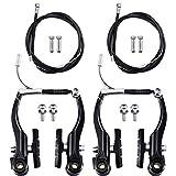 Riakrum 2 Sets Fahrradbremsen Enthalten 2 Paare V-Typ Bremsen mit 2 Stücke Bremskabeln und 4...