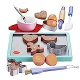 bee SMART Kinder Hölzerne Keks / Plätzchen Backset aus Holz und Zubehör, 20 Stücke, Kekse /...
