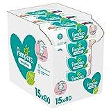 Pampers Sensitive Baby Feuchttücher, 1200 Tücher (15 x 80) Für Empfindliche Babyhaut,...