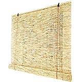 HEWYHAT Handgewebte Reed-Vorhänge, Retro wasserdichte Lichtfilter-Rollläden, Bambus-Rollos Für...