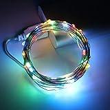 WSYYWD LED Lichterkette USB betrieben Silberdraht Girlande für Weihnachten Interieur Neujahr...