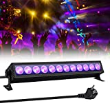 UV Beleuchtung, GLIME Schwarzlicht UV LED Lichteffekt 36W 12 LEDs UV Bar AC110-240V...