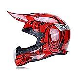 CZLWZZD Helm Motocross-Motorrad Full Face 3 Ausführungen, 4 Größen Mit Reitbrille Geeignet für...