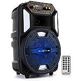 DAZONE Partylautsprecher mit LED-Beleuchtung und eingebautem Akku, Bluetooth Lautsprecher,...