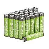 AmazonBasics AAA-Batterien mit hoher Kapazität, wiederaufladbar, 850 mAh, 24 Stück, vorgeladen
