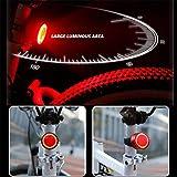 MAICOLA wasserdichte Fahrrad-Sicherheits-Rücklicht Tragbarer Fahrradhelm Licht USB aufladbare LED...