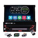 Single Din Autoradio In Dash DVD Car Audio GPS-Navigation Auto-CD / USB / SD Multimedia Video Player...