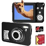 Digitalkamera 48MP 2.7K Fotoapparat Digitalkamera 16X Digital Zoom 2,7 Zoll TFT LCD Kompaktkamera...