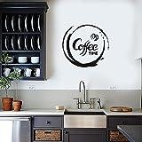 YuanMinglu Küche Kaffee Fenster Applique Kaffee Vinyl Schriftzug Wandaufkleber abnehmbare...