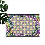 Anzhutwelve Mardi Gras, Weihnachts-Fußmatte, Mardi Gras Fest Perlen im lebendigen Grafik-Stil auf...
