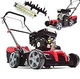 Benzin Vertikutierer 55791 Rasenlüfter 2in1 Lüfter 5,2 PS Rasen Kultivator Bodenfräse,...