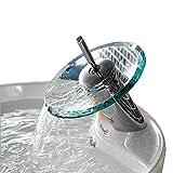 Ridgeyard Glas Waschtischarmatur Armatur Waschbecken Einhebelmischer Wasserhahn Bad Küche Home...