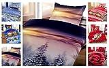 Leonado Vicenti Winter Kuschel Flausch Fleece Bettwäsche Weihnachten Designs, Winterhills 135x200 +...