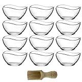 Lav 12-TLG. Glasschalen Vira 310ml Schalen Glasschale Dessertschale Vorspeise Glas Gläser inkl....