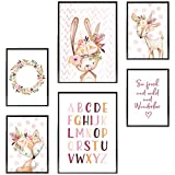 Frechdax® Kinder Poster Set | Wandbilder als Kinderzimmer Deko | 2 x DIN A3 & 4 x DIN A4 - ca....