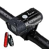 350 Lumen Fahrrad Frontlicht Wasserdicht Fahrradlicht USB Wiederaufladbare Seitenwarnlampe 5 Modi...