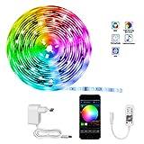 LED Strip,KooPower RGB LED Streifen Farbwechsel Led Lichterkette 5M Flexible APP-Steuerung LED...