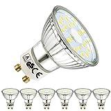 EACLL GU10 LED Kaltweiss Leuchtmittel 5W 6000K 450 Lumen Glühbirnen perfekter Ersatz 50W Halogen...