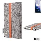 flat.design Handy Hülle Coimbra für OnePlus 7T Pro McLaren Edition - Schutz Case Tasche Filz Made...