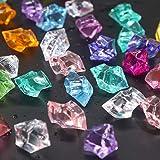 Soleebee 180 Stück Glitzernde Bunte Deko EIS Diamanten Acrylsteine Eiskristall Acrylschmuck...