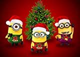 CELLYONE Christmas Minions 1000 Teile klassischer Puzzles für Erwachsene, Puzzlespielzeug für...