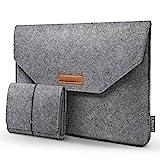 HOMIEE 15,4 15,6 Zoll Laptop Tasche mit zusätzlicher Aufbewahrungsbox und Mauspad, Aktentasche aus...